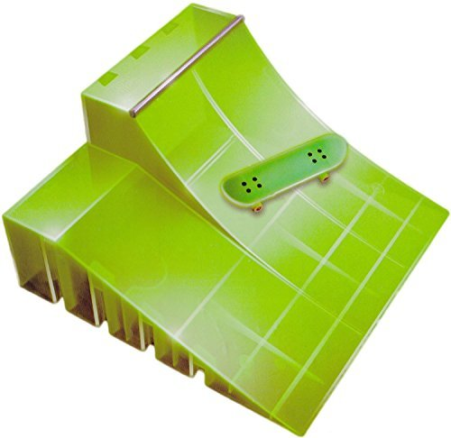 Spinmaster Tech Deck Neon Ramp, Green Quarter Pipe by Spin Master