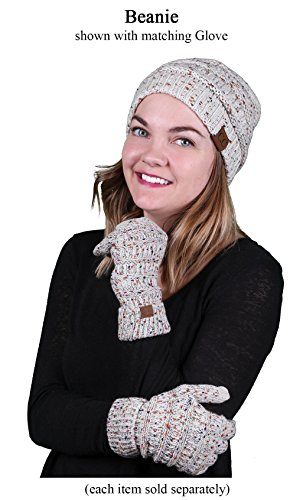 FunkyJunque H-6033-67 Confetti Knit Beanie - Oatmeal