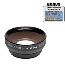0.5x Digital Wide Angle Macro Professional Series Lens + DB ROTH Micro Fiber Cloth For The Nikon D3X, D3, D2Xs, D2Hs, D2X, D2H, Digital Slr Cameras Which Has The Nikon 28-80mm Lens