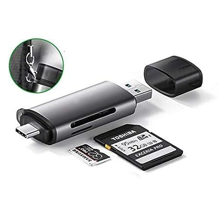 XLHJFDI Adaptador de Tarjeta de Memoria de Aluminio de Doble ...