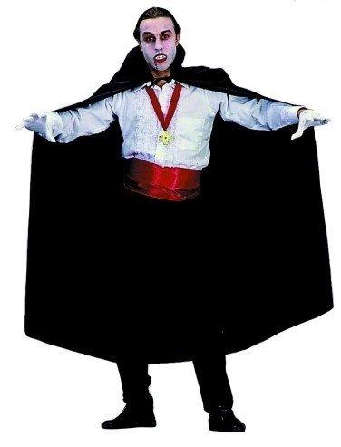 56 Satin Cape Costumes (56 Inch Cape - Satin (Black;One Size))