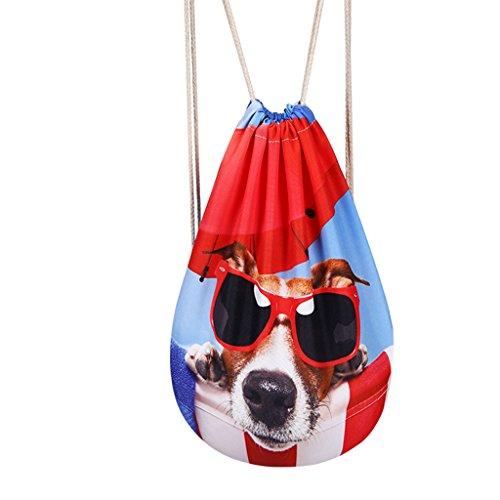 DoGeek geométrico retro del lazo de impresión mochilas Bolsa bolso de la cuerdas Para mujeres hombres tipo 2