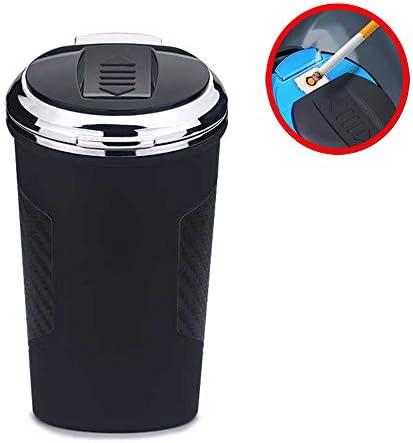 2シガーライター、ほとんどの車のカップホルダーのための青色LEDインジケータライト付き携帯無煙自動灰皿無煙、USB充電ケーブルで1車の灰皿で,金