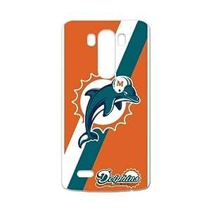 RAROFU NFL Miami Dolphins Custom Case for LG G3 (Laser Technology)