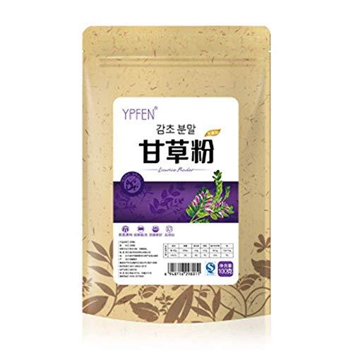 100g (0.22LB) Top Grade 100% Pure Natur Organic Liquorice Extract Powder Licorice Root herbal tea scented tea Flower tea Botanical tea herbs tea Green tea Raw tea Flowers tea Health Tea Chinese tea ()