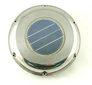 Stainless Steel Solar Ventilation Fan Solar Panels Garden Outdoor