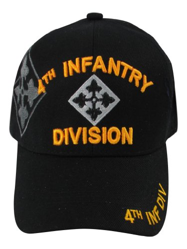 US Warriors U.S. Army 4th Infantry Division Baseball Hat One Size (Division Military Hat)