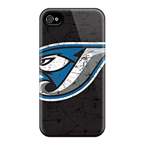 Shockproof Hard Phone Case For Iphone 4/4s (RXt2892krKq) Customized Stylish Toronto Blue Jays Pictures