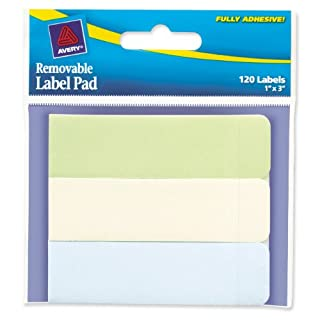 Avery Removable Label Pad, 1 x 3 Inches, Recycled, 120 Labels (22012) (B002ECFIEK) | Amazon price tracker / tracking, Amazon price history charts, Amazon price watches, Amazon price drop alerts