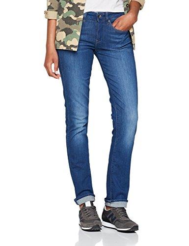 Midge Donna Multicolore Straight Raw star G Wmn Mid Aged Jeans medium ZxnqEnwUP