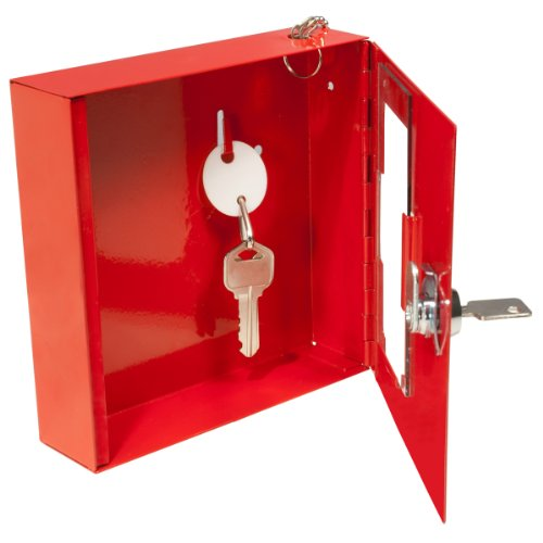 BARSKA Breakable Emergency Key Box, Red, Small