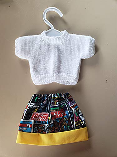 18 inch Doll Outfit Star Wars themed skirt and matching white sweater