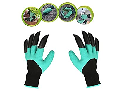 Garden Gloves With Claws, Great for Digging Weeding Seeding poking -Safe for Rose Pruning -Best Gardening Tool -Best Gift for Gardeners