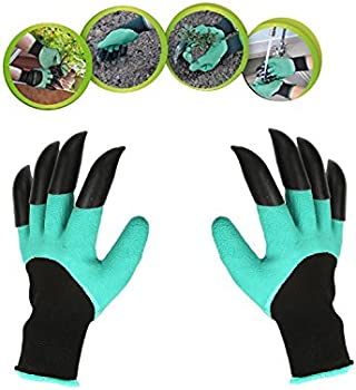 Garden Genie Gloves w/Claws for Digging & Planting