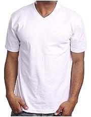 T-Shirts V Neck Cotton Men summer