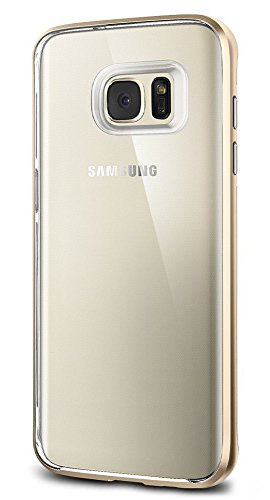 Spigen Neo Hybrid Crystal Galaxy S7 Edge Case with Flexible Inner Casing and Reinforced Hard Bumper Frame for Samsung Galaxy S7 Edge 2016 - Champagne Gold