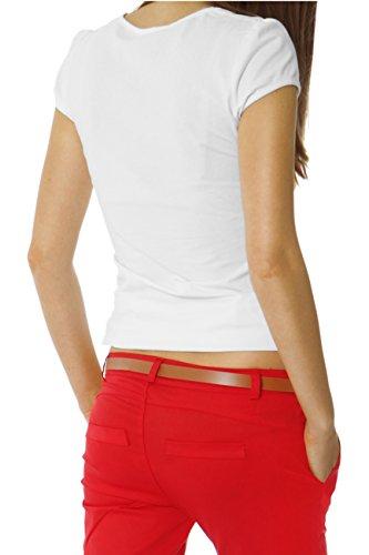 cintura Donna Pantaloni Navy Bestyledberlin chino con h01a WAqfp