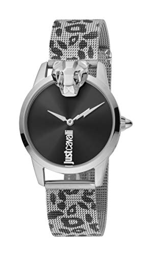 Just Cavalli JC1L057M0265 316L Stainless Steel Mineral Crystal Deployment Buckle Watch