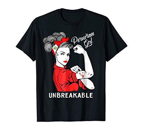 Peruvian Girl Unbreakable T-Shirt Heritage Peru Flag Gift