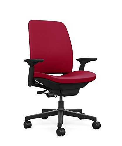 Steelcase Amia Task Chair: Black Frame/Base - 4 Way Adjustab