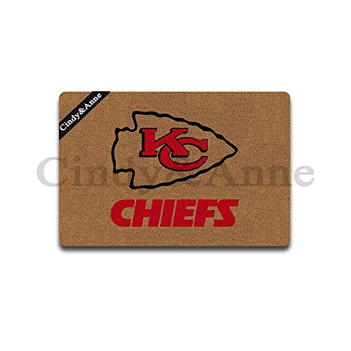 Cindy&Anne Kansas City Chiefs Doormat American Football Doormat Entrance Floor Mat Funny Doormat Door Mat Decorative Indoor Outdoor Doormat 30