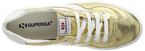 Superga 2832 Cotmetw, Zapatillas, Mujer Dorado (Gold 174)