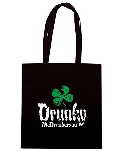 T-Shirtshock - Bolsa para la compra TIR0045 drunky mcd dark tshirt Negro