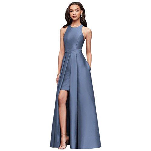David Mariée Style Robe De Demoiselle D'honneur Robe Demoiselles D'honneur Walkthrough Balle De Mikado F19822 Bleu Acier
