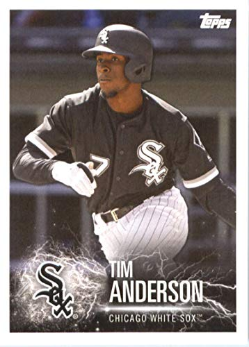2019 Topps MLB Stickers Baseball #28 Tim Anderson/Alex Bregman Chicago White Sox/Houston Astros Trading Card Sized Album Sticker with Collectible Card Back