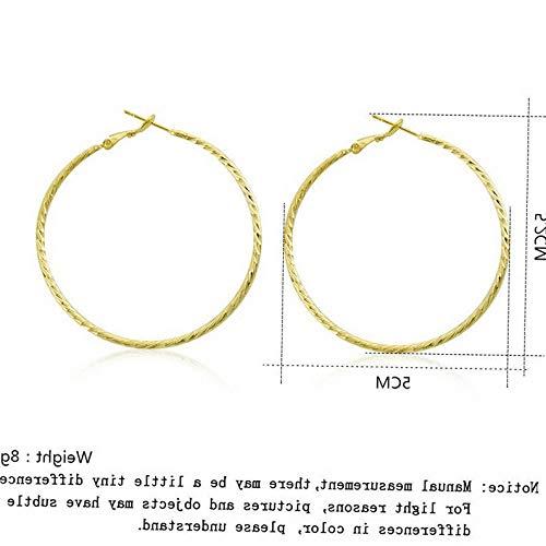 - Dokis Women Vintage Gold Plated Big Circle Geometric Hoop Dangle Drop Earrings Jewelry | Model ERRNGS - 3103 |