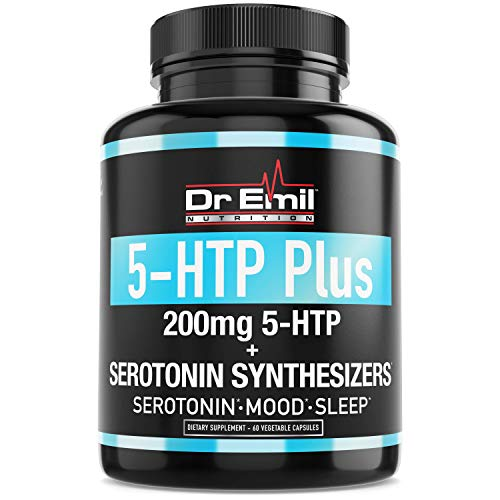200 MG 5-HTP Plus Serotonin Synthesizers & Cofactor B6 for Improved Serotonin Conversion – Enhanced 5HTP Supplement for Serotonin Boost, Mood & Sleep Support