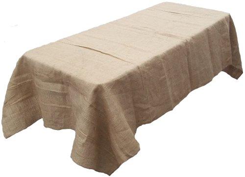 (Tablecloth Burlap Natural Rectangular Restaurant Line 90 X 156 Inch By Broward Linens )
