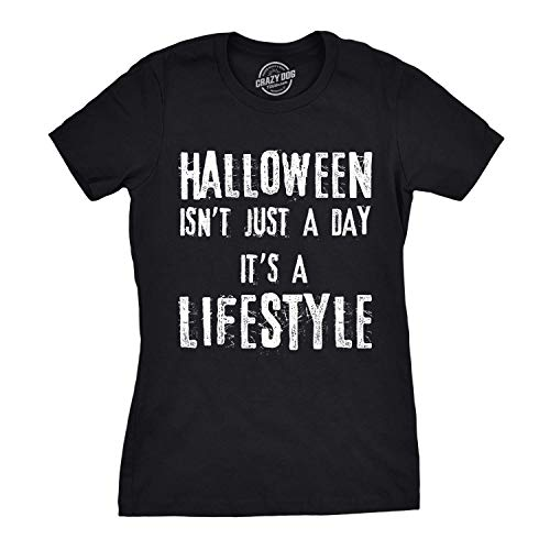 Nerd Female Costume Ideas (Womens Halloween is a Lifestyle T Shirt Funny Tee Cool Costume Idea Witch (Black) -)