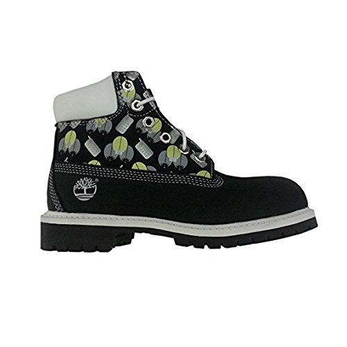 Timberland Toddlers 6 in Classic Black/white, Size 8 (Toddler White Timberland)