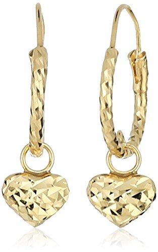 girls-10k-yellow-gold-heart-huggies-hoop-earrings