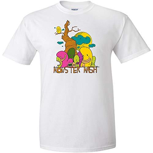 Monster Mash Logo T Shirt Monsters Halloween Mens Adult Joke Clever Fun Tee ()