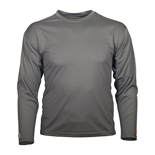 Tick Repellent Clothes - Gamehide ElimiTick Long Sleeve Tech Shirt (Slate Grey, XL)