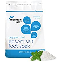 Mountain Falls Epsom Salt Foot Soak, with Baking Soda to Help Control Foot Odor, Peppermint, 2 Pound