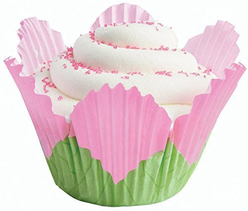 Shaped Petal (Wilton Petal Shaped Baking Cups, 24-Pack, Pink)