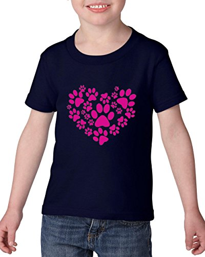 Price comparison product image Big Heart Little Paws Pet Lover`s Gift Toddler Kids Shirts