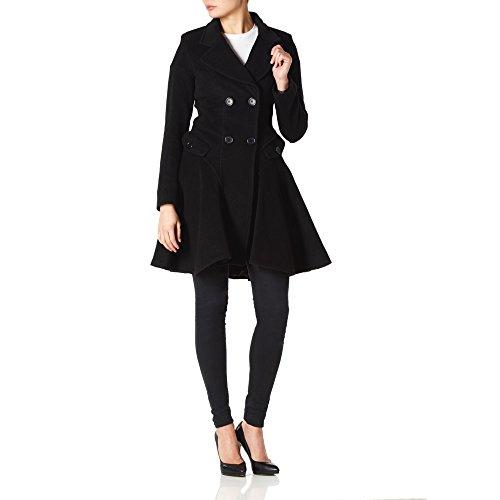 cachemire veste double Mimi manteau LONDON La Noir hiver boutonnage dames et laine Crme Femmes 1InwxSqRB