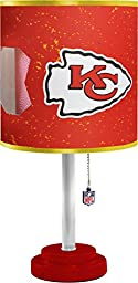 NFL Kansas City Chiefs Table Lamp with Die Cut Lamp Shade