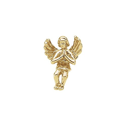 Beautiful Yellow gold 14K Praying Angel Lapel ()