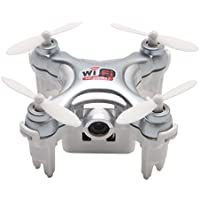 Chinatera Mini RC Quadcopter Wifi FPV With High Hold Mode Camera Pocket Drone Toy Grey
