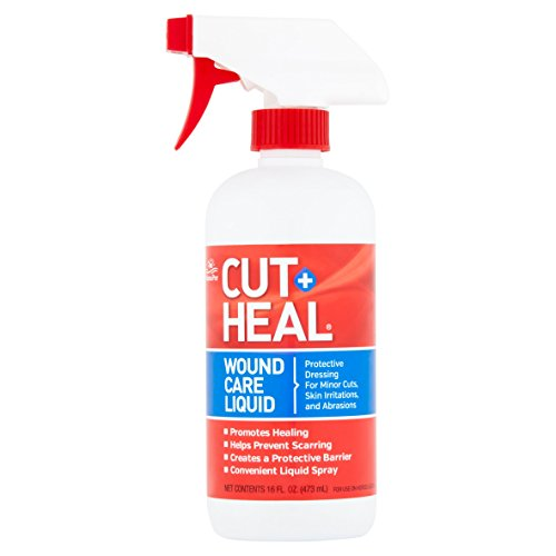 Manna Pro Cut-Heal Wound Care Liquid Spray for Horse & Dog, 16 fl oz (Louis Dog Beds)