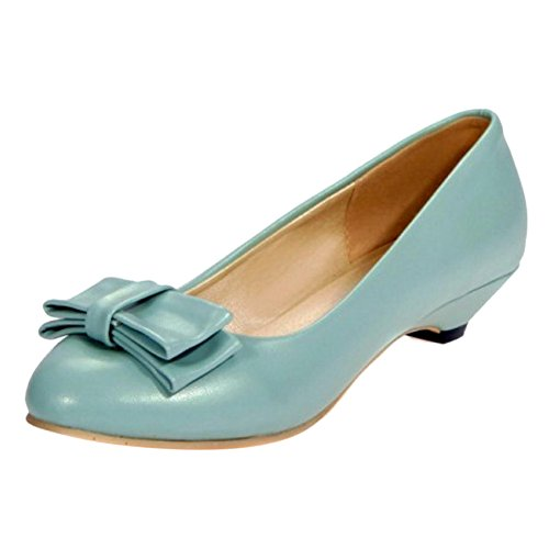 Coolcept Zapatos de Tacon Bajo Para Mujer Blue