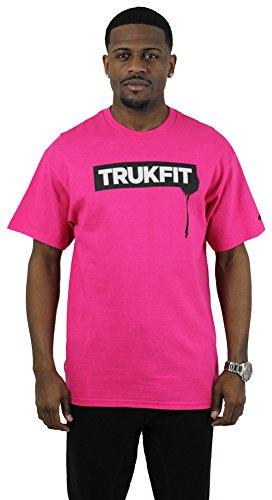 Trukfit Drip Men's Crewneck Logo T-Shirt Rich Gang YMCMB Pink Sz XL