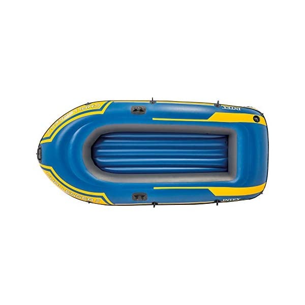 41GeM2o9ybL Intex Challenger 2 Set Schlauchboot - 236 x 114 x 41 cm - 3-teilig - Blau / Gelb