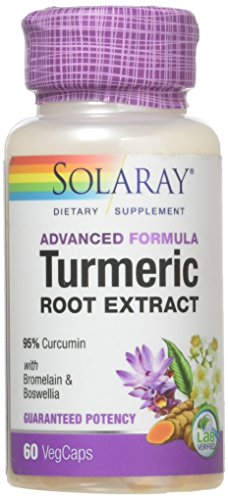 Solaray - Guaranteed Potency Turmeric Root Extract, 200 mg ,60 Capsules (Root Extract Turmeric)