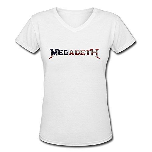 Z'Hang Women's Megadeth V-neck T Shirts XX-Large